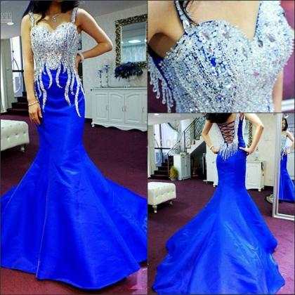 Royal Blue Prom Dress,Mermaid Prom ..