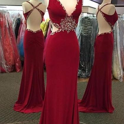 Sexy Prom Dresses,Red Prom Dress,C..