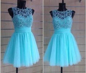 Blue Tulle Knee Leng..