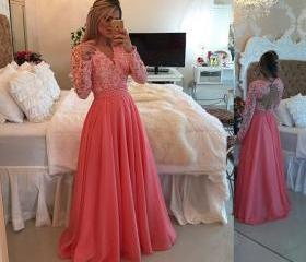 Coral Prom Dress,Bal..
