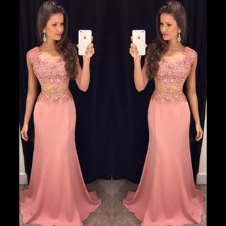 Blush Pink Prom Dresses,Lace Prom Dress,Sexy Prom Dress,Mermaid ...