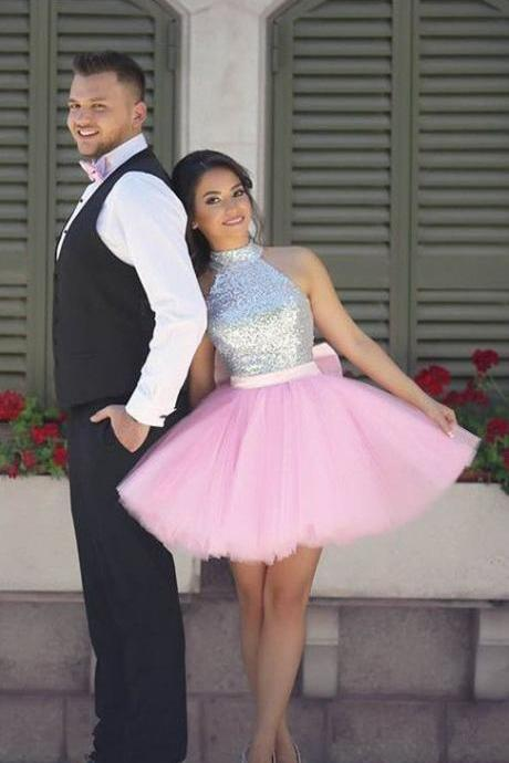 homecoming dresses, short homecoming dress, pink homecoming dress, sparkly sequins homecoming dress party dress