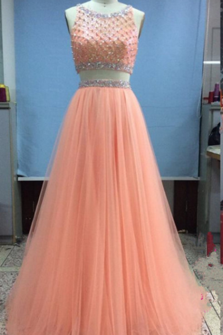 Two Pieces Prom Dress Prom Gown