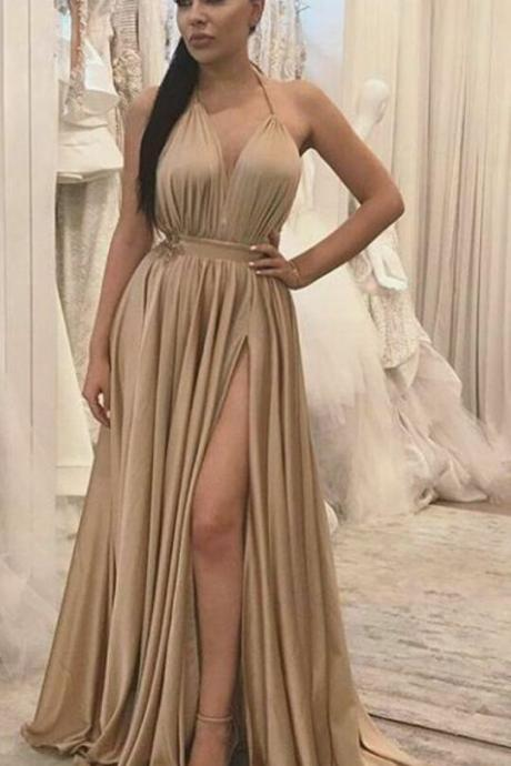 A gorgeous PROM dress, a long evening gown without a background, a formal evening gown