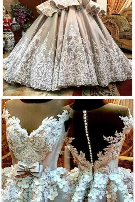 Ball Gown ,wedding Dress, Sexy Off Shoulder ,Appliques, Bridal Gown, Wedding Dresses,
