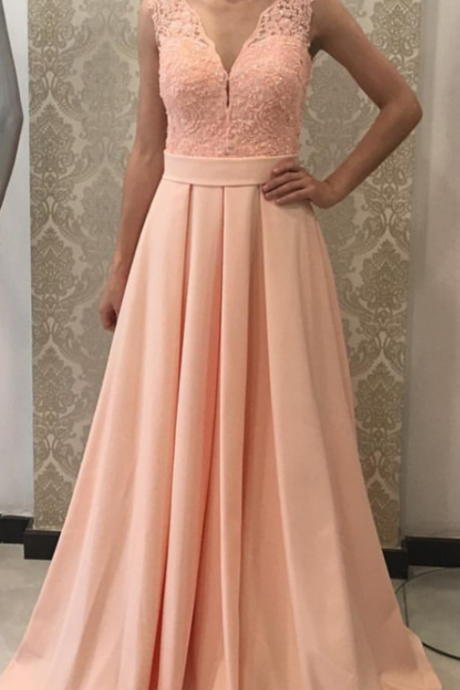 Elegant A Line Pink Lace Prom Dress Custom mADE Off the Shoulder Prom Gowns Sexy Long Evening Dress