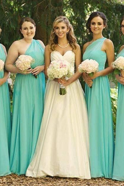 NEW One Shoulder Chiffon Bridesmaid Evening Dress Party Ball Prom Gown ,Bridesmaid dresses ,bridesmaid dress
