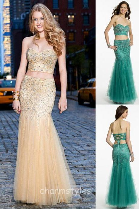New Custom Sexy Tulle Beach Mermaid Cocktail Evening Party Bridesmaid Prom Gown