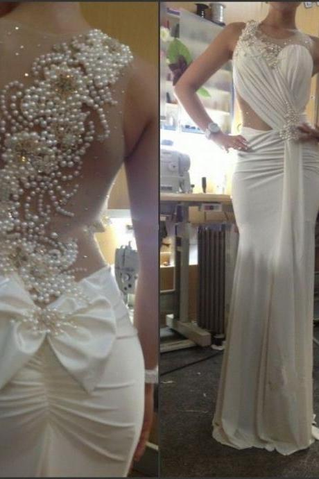 New sell like hot cakes Sexy mermaid wedding dress hand-beaded sleeveless wedding dress for formal occasions Pageant Dress Custom American size 2-4-6-8-10-12-14 ++