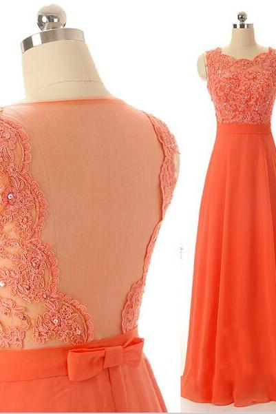 long prom dress, coral prom dress, sleeveless prom dress, lace prom dress, formal prom dress, elegant prom dress, evening dress