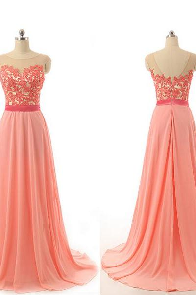 Long prom dress, lace prom dress, chiffon prom dress, on sale prom dress, formal prom dress, popular prom dress, cheap prom dress, modest prom dress
