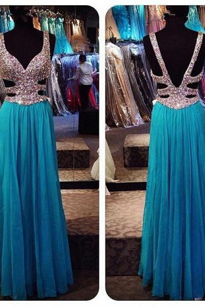 Long prom dress, blue prom dress, off shoulder prom dress, elegant prom dress, popular prom dress, sexy prom dress, chiffon prom dress, evening dress