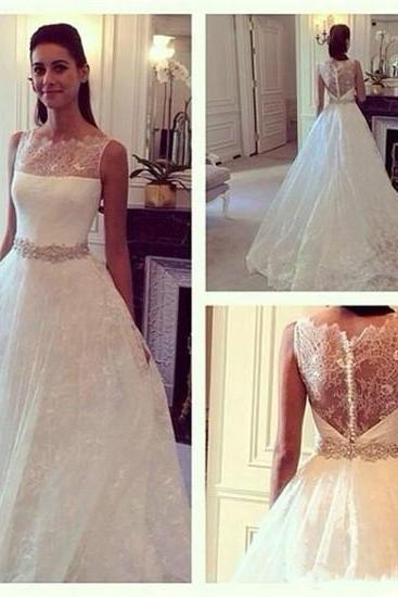 Long Wedding Dresses, Lace Wedding Dresses , White Wedding Dresses,Off the Shoulder Wedding Dresses, See through Weddng Dreseese ,Appliques Bridal Dresses