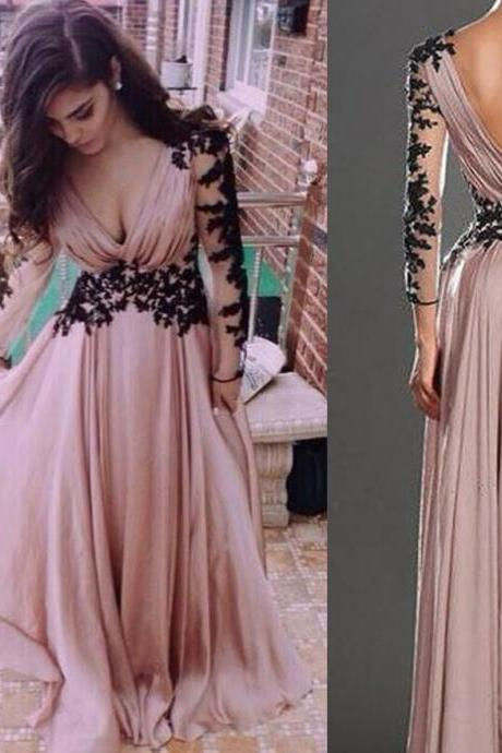 Evening Gown,A-line Evening Gown,Chiffon Evening Gown,Hot Style Evening Dress,Party Dress,Full Sleeved Evening Dresses,Long Evening Gown,Fashion Evening Gown,Party Dress,Modest Party Dress,Dress for Evening