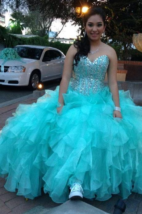 Quinceanera Dress,Quinceanera Dresses with crystals