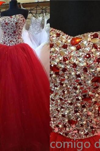 Sweetheart Ball Gown Wedding Dress,Luxury Ball Gown,Beaded Quinceanera Dress,Tulle Prom Dress,Custom Made Ball Gown,Pageant Dress,Formal Prom Dress,Dresses For Prom,Handmade Quinceanera Dress,Special Occasion Dresses