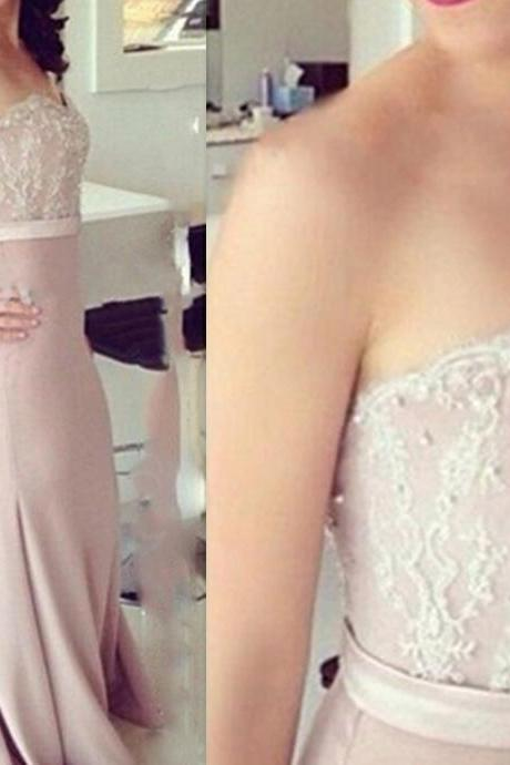 Beautiful Handmade Sweetheart Mermaid Prom Dress With Lace Applique, Prom Gowns Evening Gowns, Bridesmaid Dresses