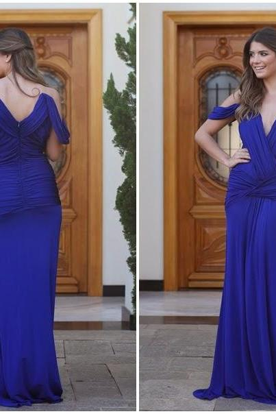 Mermaid Prom Gown,Prom Dresses,Royal Blue Evening Gowns,Party Dresses,Mermaid Evening Gowns,Sexy Formal Dress For Teens