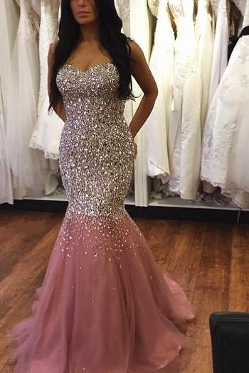 tulle Prom Dresses,long Evening Dress,mermaid Prom Dress,Prom Gown,Sexy Prom Dress,Long Prom Gown,Modest Evening Gowns for Teens