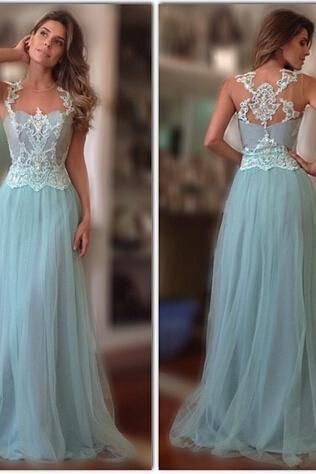 Prom Dresses 2016, Lace Prom Dress, 2016 Prom Dresses, A Line Prom Dresses ,evening dress