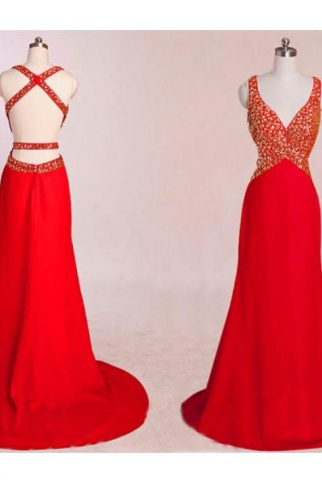 Red Backless Dress, Mermaid Prom Dresses, Red Prom Dress, Unique Prom Dresses, Sexy Prom Dresses, 2015 Prom Dresses, Popular Prom Dresses, Dresses For Prom