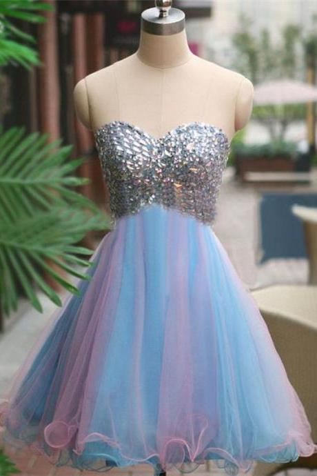 A-Line Homecoming Dress,Sweetheart Homecoming Dress, sparkly Homecoming Dress,junior Latest Homecoming Dress,Sleeveless Mini Homecoming Dress,2016 Homecoming Dresses