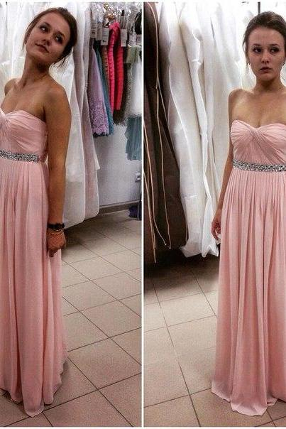 Blush Pink Prom Dresses,Prom Dress,Simple Prom Dress,Chiffon Prom Dress,Simple Evening Gowns,Cheap Party Dress,Elegant Prom Dresses,2016 Formal Gowns For Teens