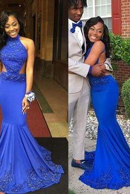 Prom Dresses,Mermaid Prom Dress,Sexy Evening Dress,royal blue prom gowns