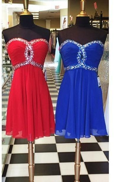 Cute Short Homecoming Dresses,Beaded Prom Dresses,A-line Prom Dresses,Party Dresses,Prom Dresses