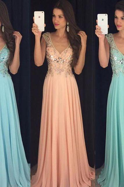 Blue Prom Dresses,Chiffon Prom Gowns,Sparkle Prom Dresses,Long Party Dresses,Simple Prom Dress,Elegant Evening Gowns,Modest Prom Gowns,Beaded Bodice Evening Gowns