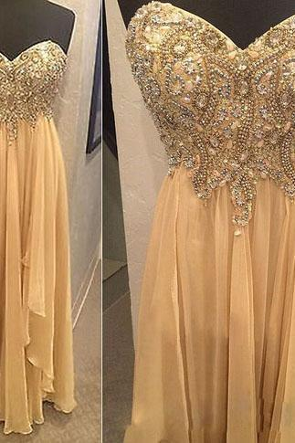 Chiffon Prom Dresses,Champagne Prom Dress,Modest Prom Gown,Prom Gowns,Evening Dress,Princess Evening Gowns,Sparkly Party Gowns,Long Prom Gowns,Evening Dress