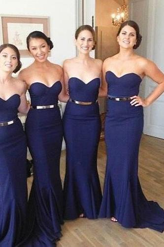 Bridesmaid Dress,Long Bridesmaid Gown,Royal Blue Bridesmaid Gowns,Simple Bridesmaid Dresses,Bridesmaid Gowns,Chiffon Bridesmaid Gowns