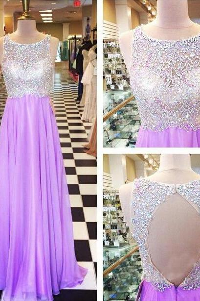 Lilac Prom Dresses,Sparkly Prom Dress,Sparkle Prom Gown,Bling Prom Dresses,Evening Gowns,2017 Evening Gown,Beaded Formal Dress For Teen