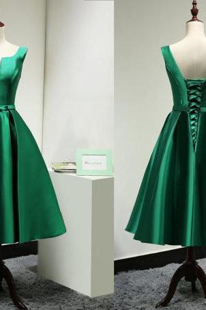 Homecoming Dress,Green Homecoming Dresses,Satin Homecoming Dress,Party Dress,Prom Gown, Sweet 16 Dress,Cocktail Gowns,Short Evening Gowns