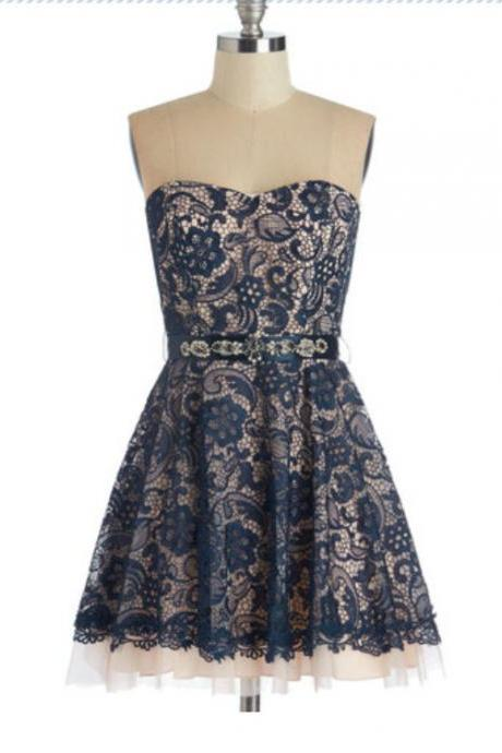 Homecoming Dress,Tulle Homecoming Dress,Cute Homecoming Dress,Lace Homecoming Dress,Short Prom Dress,Navy Blue Homecoming Gowns,Sweet 16 Dress