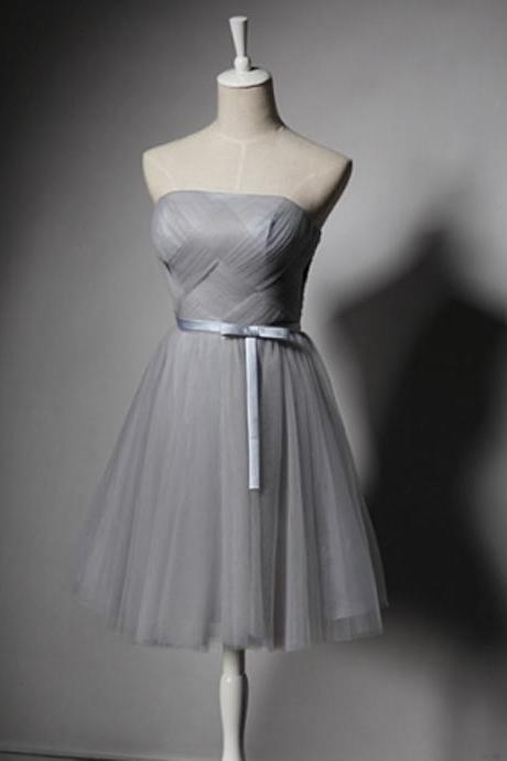Short Bridesmaid Dresses,8th grade graduation dresses,Silver Homecoming Dresses, Homecoming Dresses,Graduation Dresses,2016 Homecoming Dress,Satin Homecoming Dress,Sexy Homecoming Dress,Short Prom Dresses