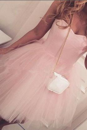 Homecoming Dress,Black Homecoming Dresses,Tulle Homecoming Dress,Party Dress,Prom Gown,Pink Sweet 16 Dress,Cocktail Gowns,Short Evening Gowns