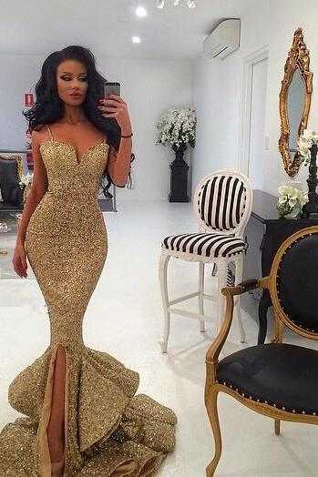 Sequin Prom Dresses,Prom Dress,Backless Evening Gown,Long Formal Dress,Sequined Prom Gowns,Open Backs Evening Dresses For Teens
