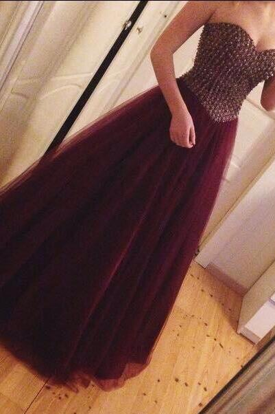 Wine Red Prom Dresses,Charming Evening Dress,Burgundy Prom Gowns,Prom Dresses,2016 New Prom Gowns,Evening Gown,Simple Party Dresses