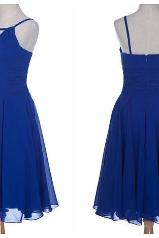 Royal Blue Homecoming Dress,Simple Homecoming Dresses,Cheap Homecoming Gowns,Short Prom Gown,Sweet 16 Dress,2016 Homecoming Dresses,Chiffon Cocktail Dress,Formal Dress