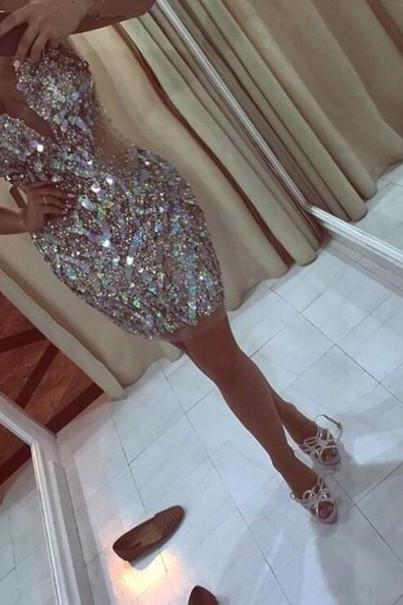 Homecoming Dress,Cute Homecoming Dress,Short Prom Dress,Champagne Homecoming Gowns,Sweet 16 Dress
