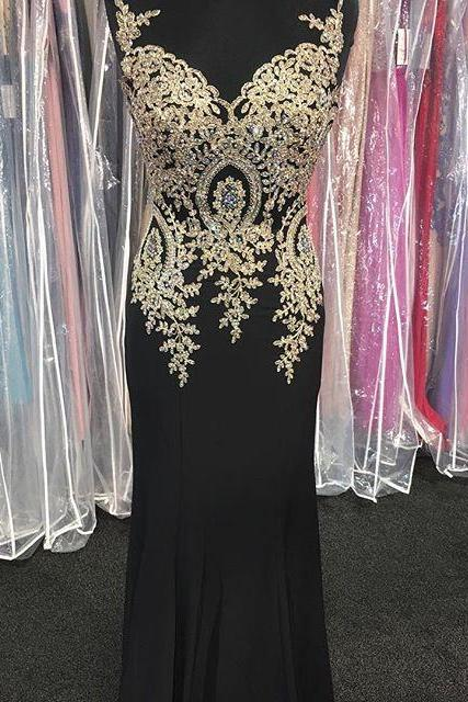 Black Prom Dresses,Mermaid Prom Dress,Lace Prom Dress,Lace Prom Dresses,2017 Formal Gown,Lace Evening Gowns,Party Dress,Lace Prom Gown For Teens