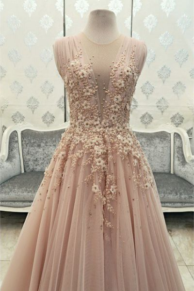 Sexy Evening Gowns,Pink Prom Dress, Pageant Prom Gown, Evening Gowns