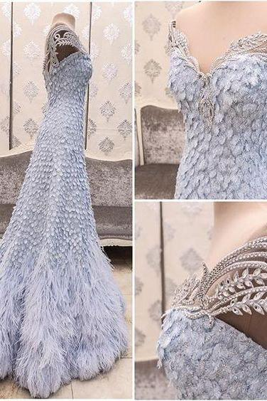 New Arrival Prom Dress,Modest Prom Dress,Flower wedding dress,blue wedding dress,light blue wedding dress,wedding dress