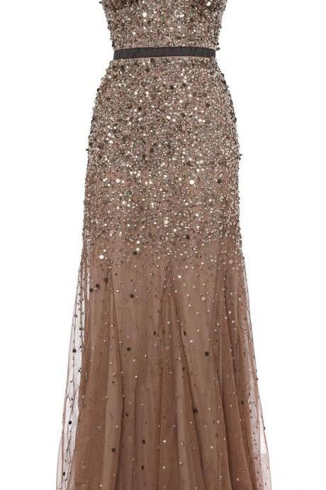 Mermaid Prom Dresses,Champagne Party Dress,Tulle Prom Dress,Modest Evening Gowns,Elegant Party Dresses,Long Evening Gowns