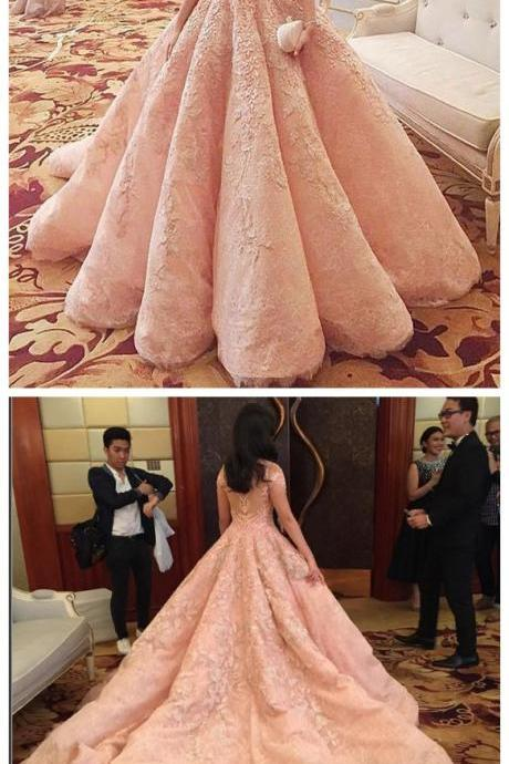 Wedding Dresses,2017 Wedding Gown,Lace Wedding Gowns,Bridal Dress,Wedding Dress,Brides Dress,Vintage Wedding Gowns,Wedding Dress Modest Quinceanera Dress,Pink Ball Gown,Applique Prom Dress,Fashion Prom Dress,Sexy Party Dress, New Style Evening Dress
