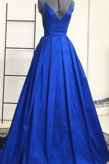 Backless Prom Dress,Royal Blue Prom Dress,Spaghetti Prom Dress,Fashion Prom Dress,Sexy Party Dress, New Style Evening Dress