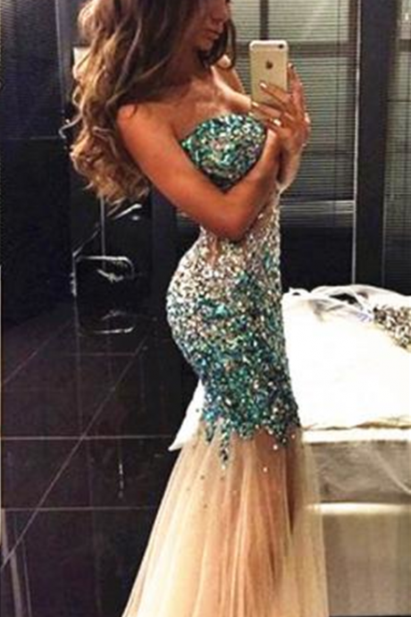 Mermaid Prom Dress,Sweetheart Prom Dress,Beaded Prom Dress,Fashion Prom Dress,Sexy Party Dress, New Style Evening Dress