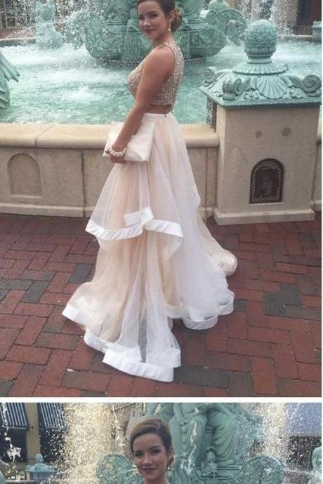 2 Piece Prom Gown,Two Piece Prom Dresses,2 Pieces Party Dresses,Evening Gowns,Formal Dress,Evening Gown For Teens