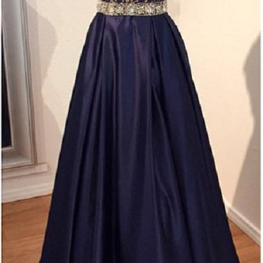 V Neck Taffeta Long Evening Dress Prom Dress evening dresses